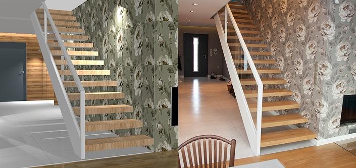 Modernistyczne Schody z drewna, projektowanie i produkcja schodów drewnianych - Konar HN21